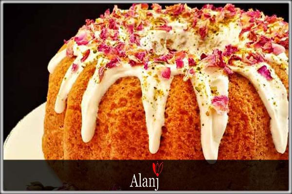 روش تهیه کیک هل و گلاب و زعفران